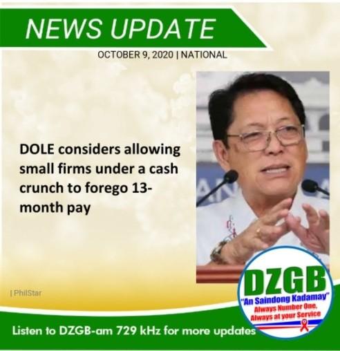 菲律宾劳工部:企业可推迟发13个月薪水