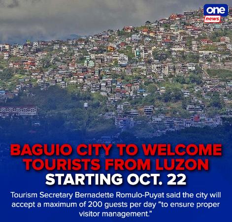 从10月22日起 菲律宾碧瑶市向大马尼拉等地游客开放
