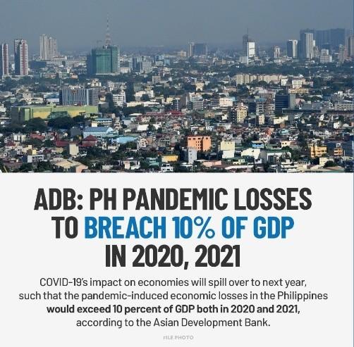 亚洲开发银行:菲律宾GDP料连续两年下滑