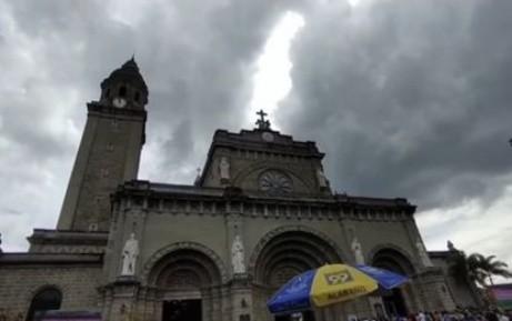 圣母玛利亚显圣? 菲律宾马尼拉大教堂屋顶 现圣母怀孕云图