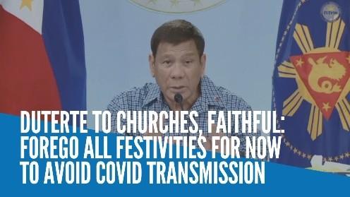 菲律宾总统促教会暂时放弃迎神赛会