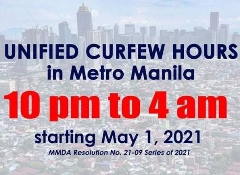 菲律宾大马尼拉区维持晚十朝四宵禁