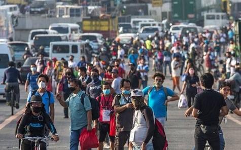 菲律宾大马尼拉区每日病例下降 州府南岛成关注地区