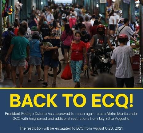 菲律宾大马尼拉区8月6日至20日封城 政