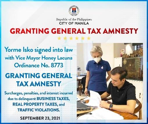 菲律宾马尼拉市宣布税务特赦