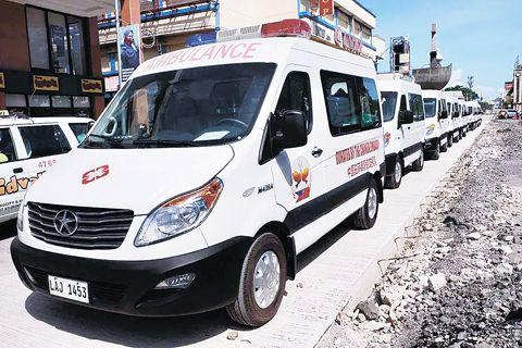 中国驻菲律宾大使馆捐达沃市府10辆抗疫车