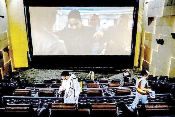 菲律宾大马尼拉电影院获准重新开张 观众不